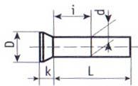 Заклепка с потайной головкой под молоток ГОСТ 10300