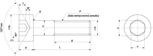 Винт с внутренним шестигранником DIN 912, ГОСТ 11738