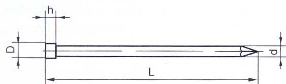 Гвоздь финишный чертеж (ГОСТ) 7811-7035