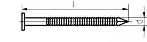 Гвоздь для европоддонов ершеный чертеж (ГОСТ) 7811-7038