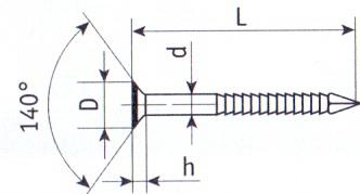 Гвоздь ершеный чертеж (ГОСТ) 7811-7120