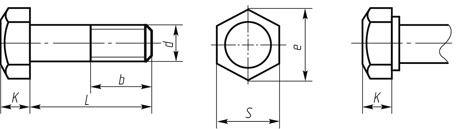 Болт высокопрочный ГОСТ Р52644, ГОСТ 22353. Класс прочности 10.9, 11.0 ХЛ