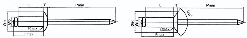 Заклепка вытяжная комбинированная DIN 7337